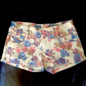 Blue and Pink Flowery Shorts